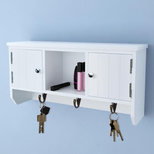 Стена Шкаф для ключей и ювелирных изделий с дверей и крючки