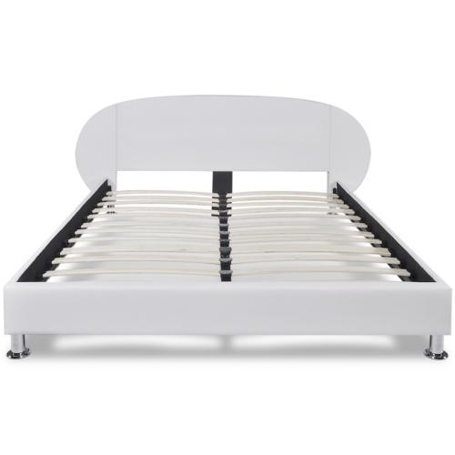 Кровать Рамка 4FT6 Двойная / 135x190 см Искусственная Кожа Белая