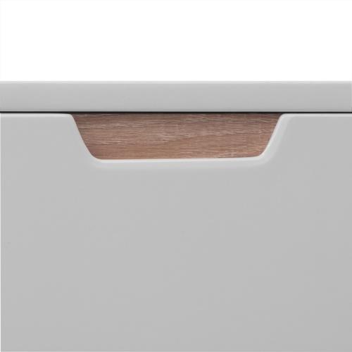 High Gloss Credenza in MDF 150x40x73 cm Bianco