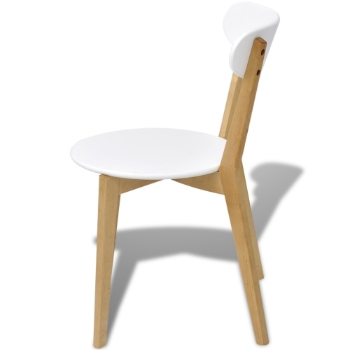 Sedie da pranzo 4 pezzi MDF e Brich legno