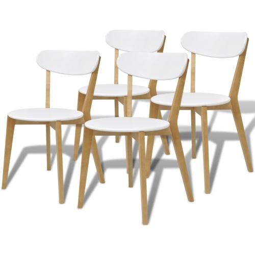 Cinque pezzi che pranza insieme MDF e Brich legno