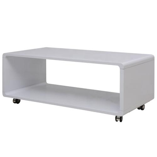 High Gloss Tavolino Bianco