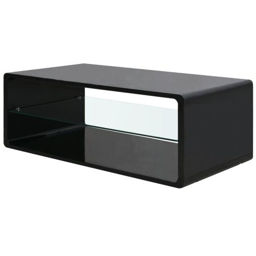 Laccato Tavolino nero