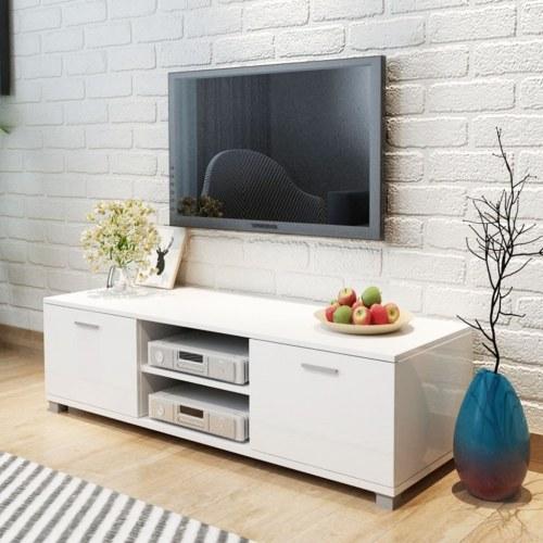 tv cabinet high-gloss white 140x40.3x34.7 cm