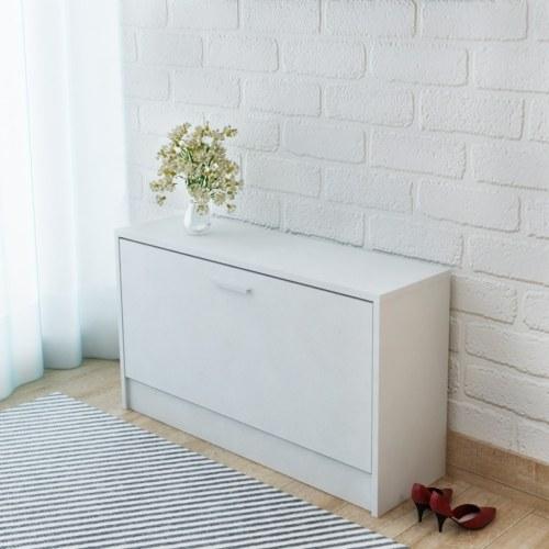 Panca per il deposito scarpe Bianco 80x24x45 cm