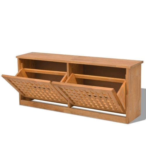 Stoccaggio per scarpe Solido noce in legno 94x20x38 cm