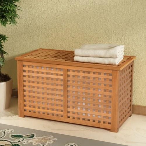 lavanderia in legno massello di noce di legno 77.5x37.5x46.5 cm