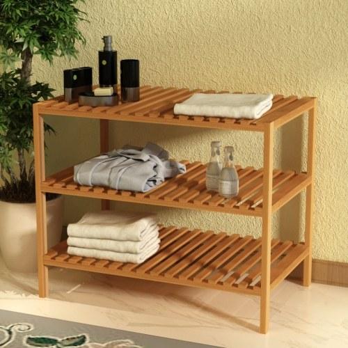 Scaffale  Scaffale Solid Walnut Wood 65x40x55 cm