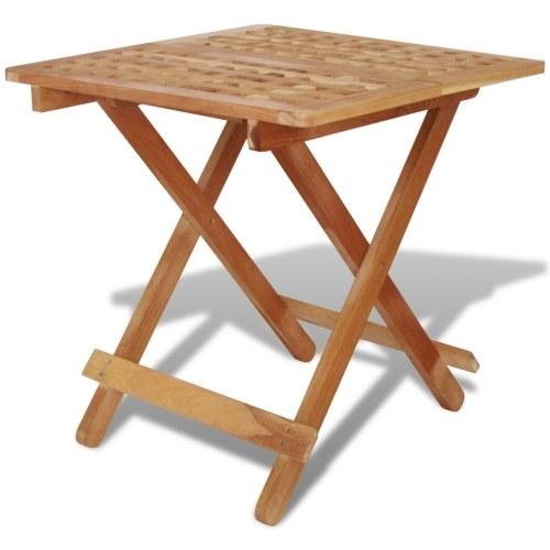 Tavolo laterale pieghevole  Solido noce Legno 50x50x49 cm
