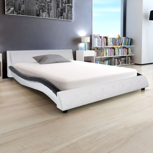 Cornice da letto in pelle artificiale 5FT King Size / 150x200 cm