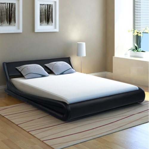 Cornice da letto 5FT King Size / 150x200cm Black Curl in pelle artificiale