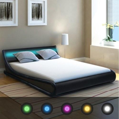 Telaio letto  con LED 5FT King Size / 150x200 cm Cuoio artificiale