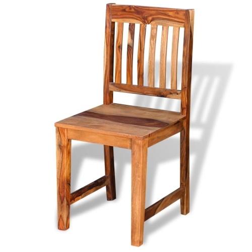 Sedie da pranzo 2 pezzi solido Sheesham legno