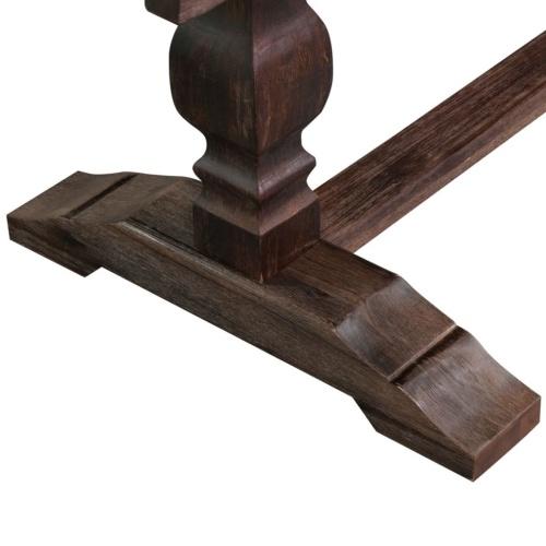 Складной стол с двумя подставками Твердая древесина акации Дерево 180x80x75 см