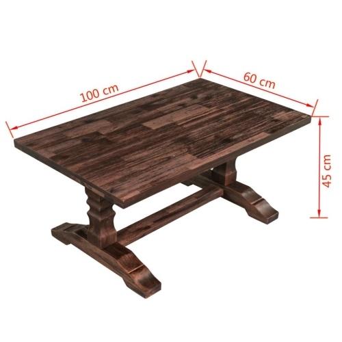 Журнальный столик из твердой древесины Acacia Wood 100x60x45 см
