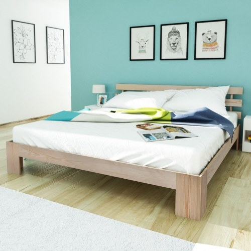 Letto matrimoniale 5FT King Size / 200x150 cm Pinewood Natural