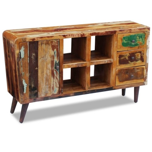 sideboard solid reclaimed wood 150x40x86 cm