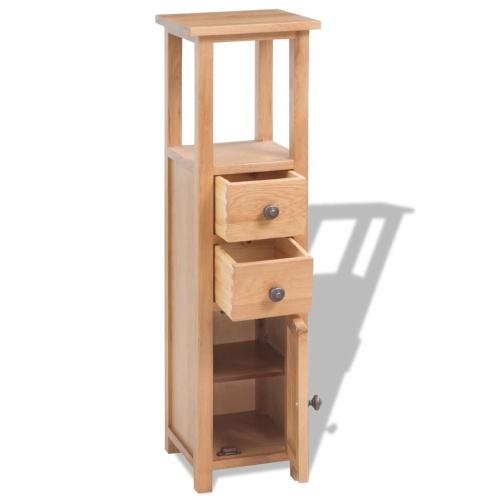 Угловой шкаф Твердый дуб 26x26x94 см Коричневый
