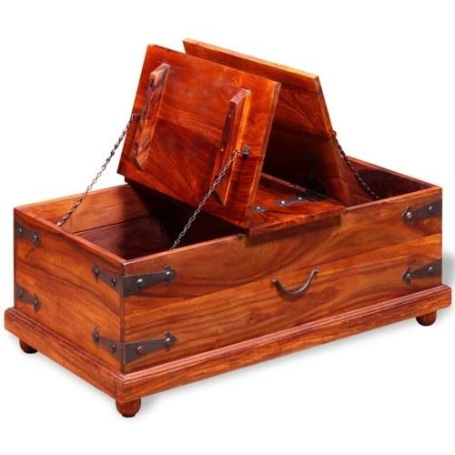 Хранение Грудь Solid Sheesham Wood 90x50x35 cm