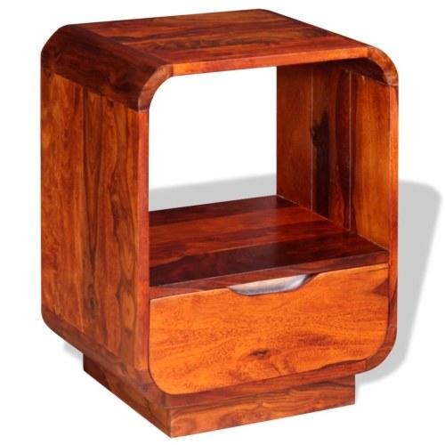Тумба с ящиком Solid Sheesham Wood 40x30x50 см