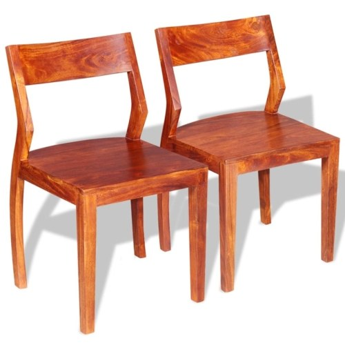 Обеденные стулья 2 шт. Твердая акация Дерево Sheesham