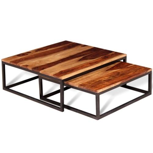 Набор из двух наборов кофейных столов Solid Sheesham Wood