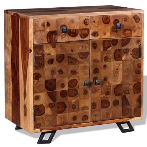 Credenza in massello di legno di Sheesham 65x35x65 cm marrone ...