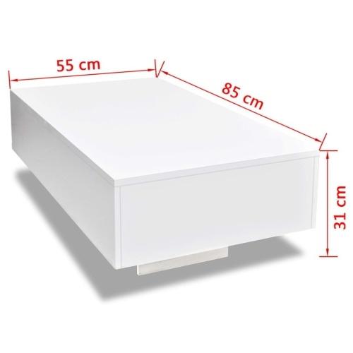 Журнальный столик с высоким блеском Белый