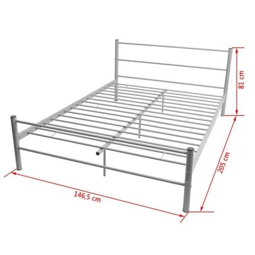 Кровать Рамка Металл Серый 140x200 см
