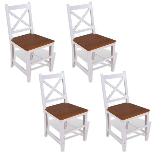 Обеденные стулья  4 шт. Твердое тиковое красное дерево