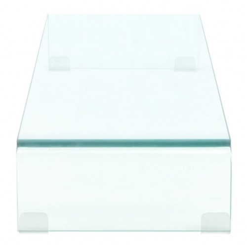 TV Stand/Monitor Riser Glass Clear 90x30x13 cm