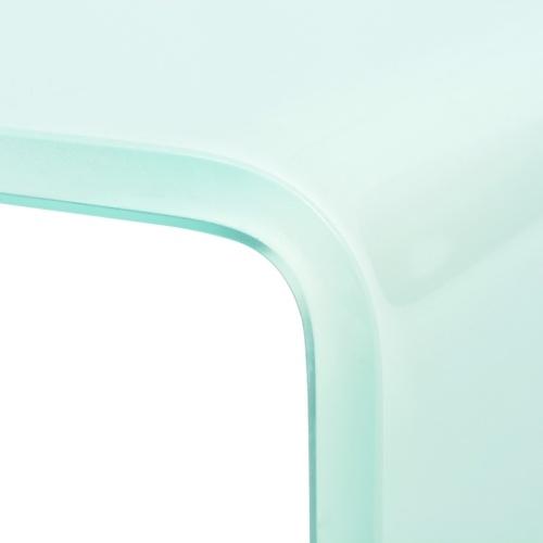 Подставка для телевизора / монитор Riser Glass White 80x30x13 см