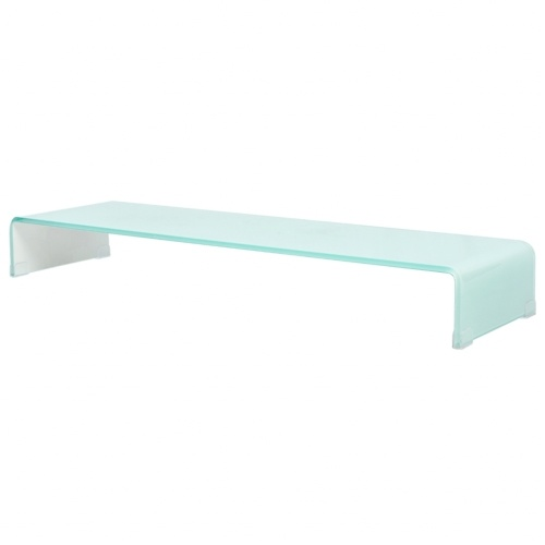 Подставка для телевизора / монитор Riser Glass White 100x30x13 см