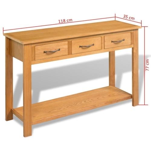 Большая консольная таблица Solid Oak 118x35x77 см