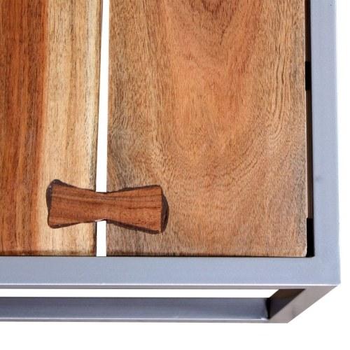 Набор для двух столов из цельного дерева Acacia Wood