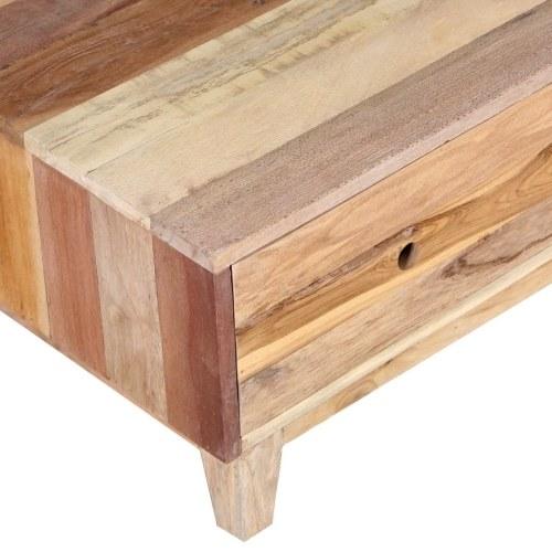 Журнальный столик с твердым восстановленным деревом