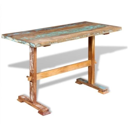 Стол обеденный твердый восстановленный древесины 120x58x78 см