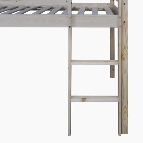 Детская лофт-кровать со слайдом и лестницей Дерево натуральное