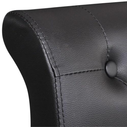 Кровать-рамка Искусственная кожа 180x200 см Черный
