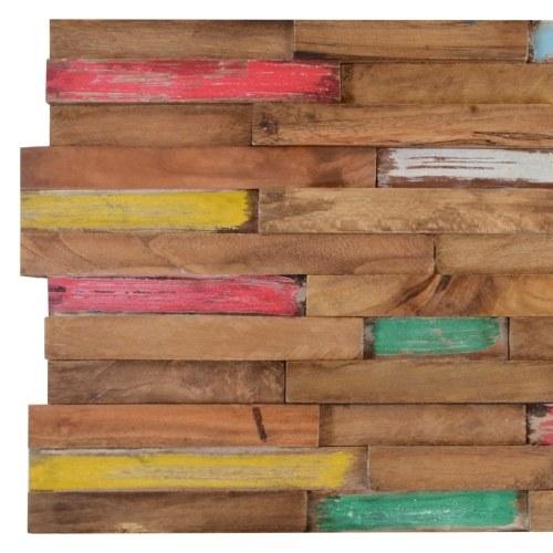 10 pcs Wall Cladding Panels 1 m2 Teak