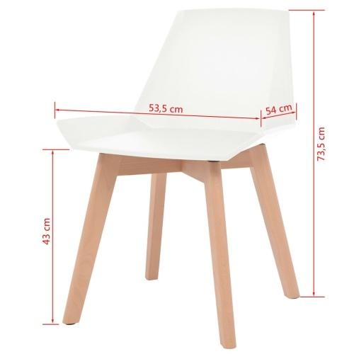 Cadeiras de Jantar 2 pcs Branco