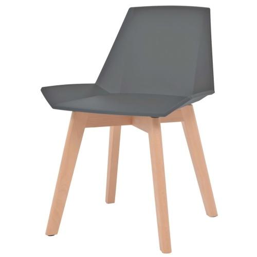 Cadeiras de Jantar 2 pcs Cinza