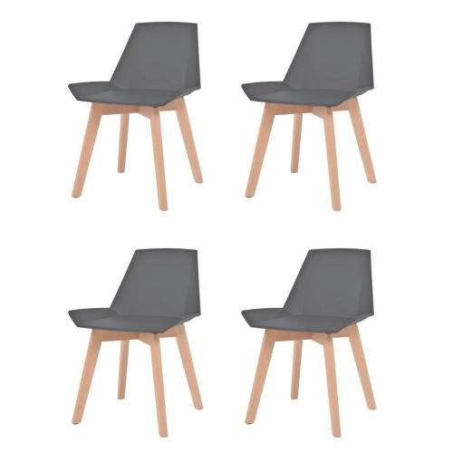 Обеденные стулья 4 шт. Серый