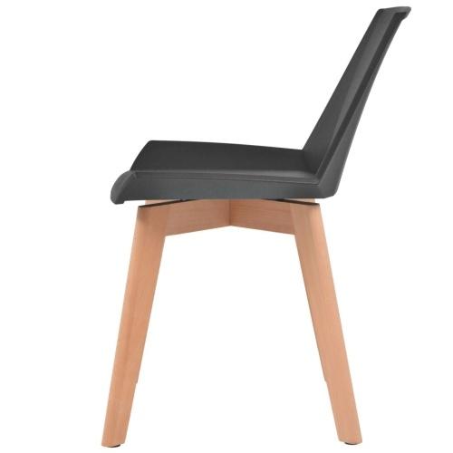 Cadeiras de Jantar 4 pcs Black