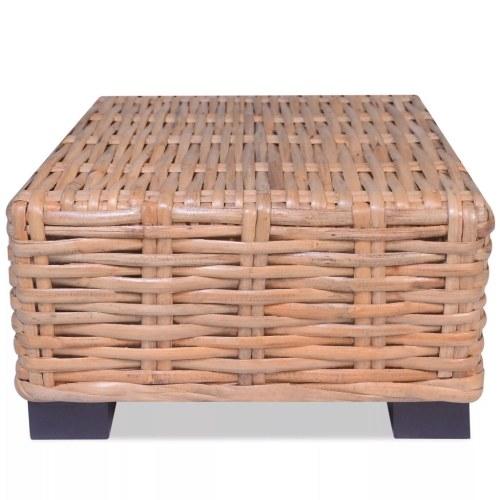 Tavolino in rattan naturale 45x45x30 cm