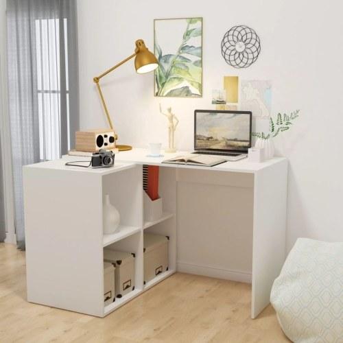 Письменный стол с книжной полкой 117x92x75,5 см Белый