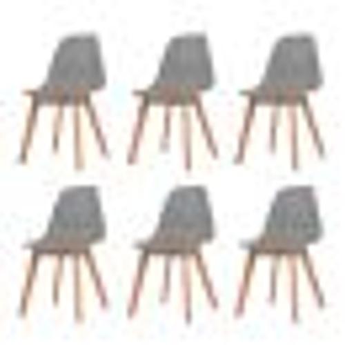 Обеденные стулья 6 шт. Серый