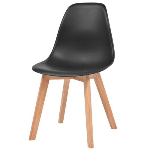 Обеденные стулья 2 шт. Черный