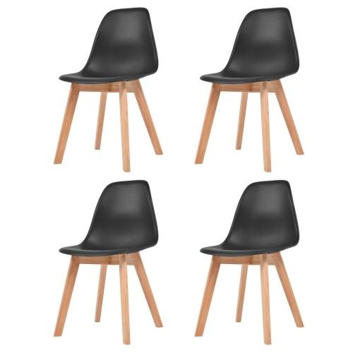 Обеденные стулья 4 шт. Черный