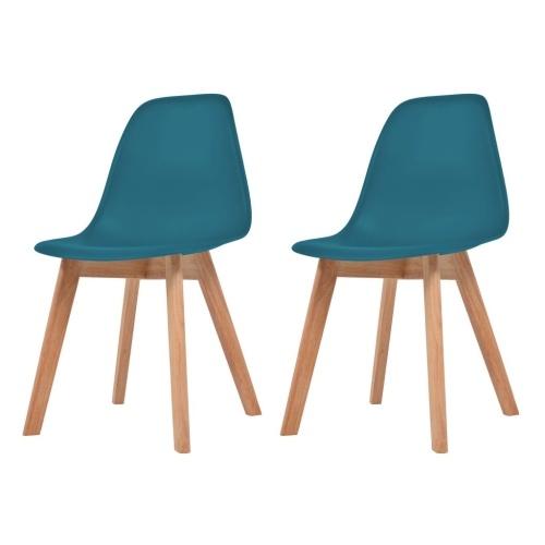 Обеденные стулья 2 шт. Бирюзовый
